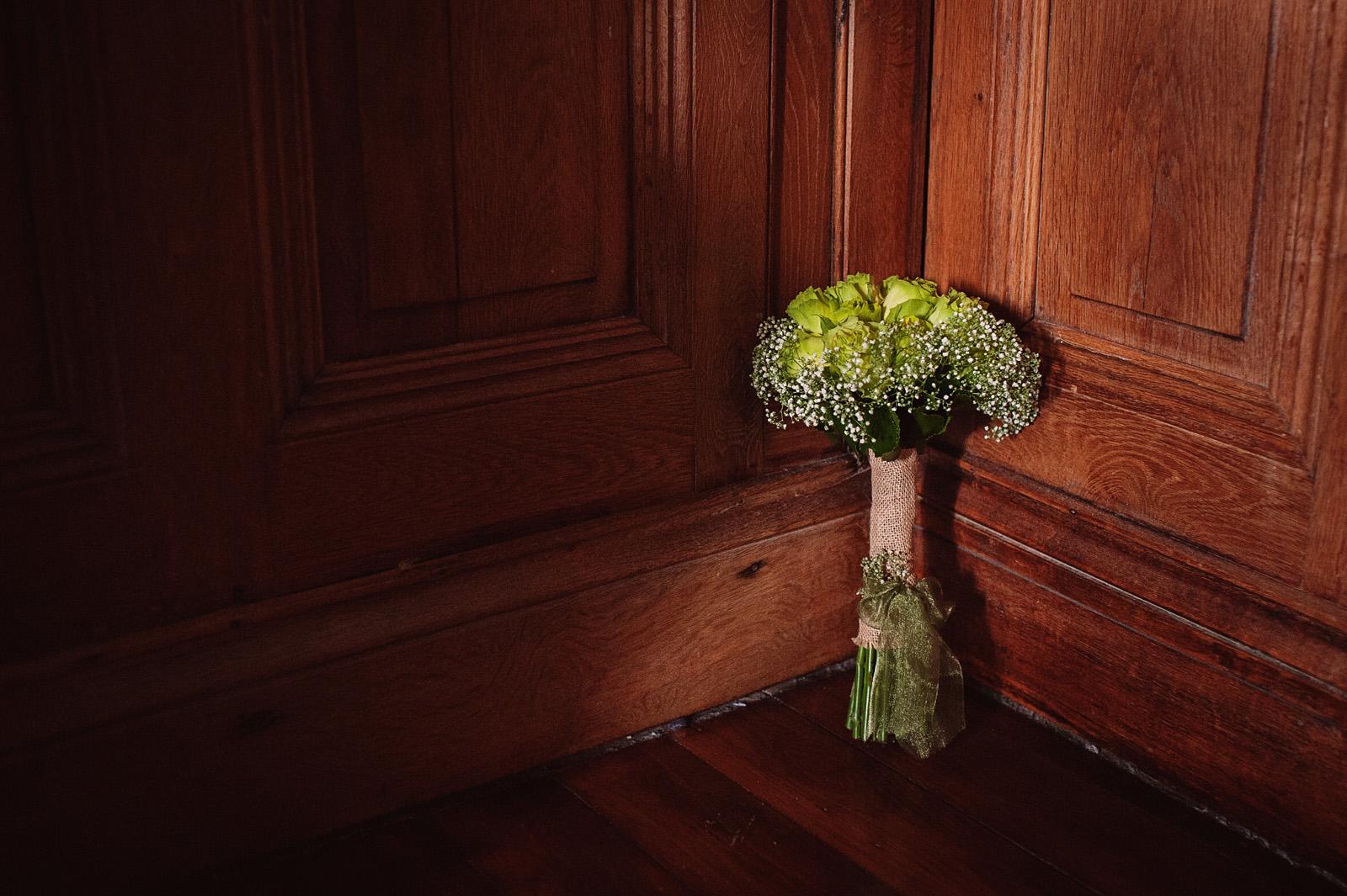 ramo novia verde